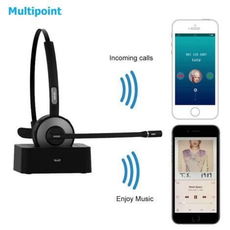 Cuffia con microfono bluetooth per PC, Notebook e Smartphone