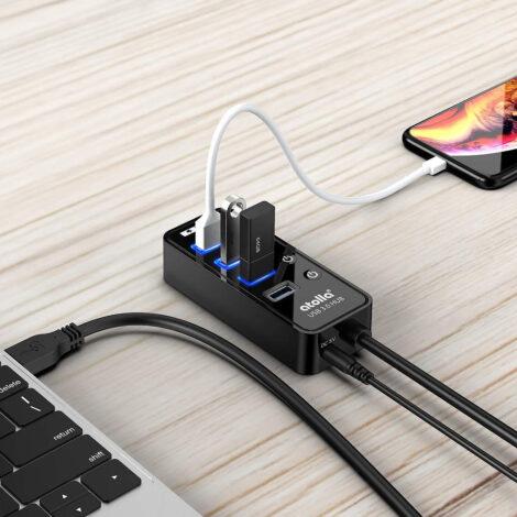 Hub USB 3.0 4 porte Alimentato