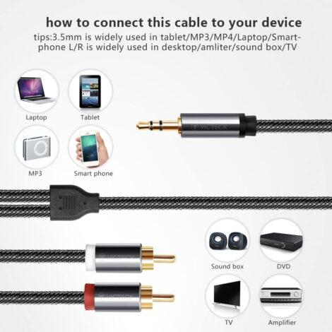 Cavo audio RCA Jack 3.5 professionale