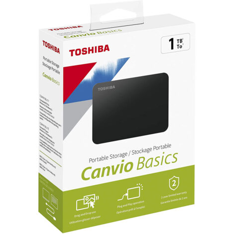 Hard disk esterno portatile Toshiba 1TB