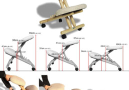 sedia ergonomica in legno Cinius