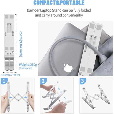 Supporto portatile scrivania compatto