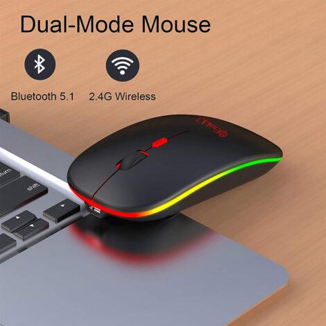 Mouse ricaricabile wireless e Bluetooth