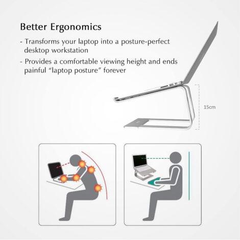Supporto PC portatile da scrivania